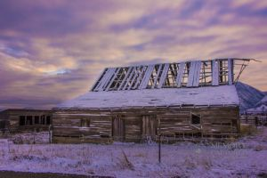 Old barn with snow at sunrise_6.jpg